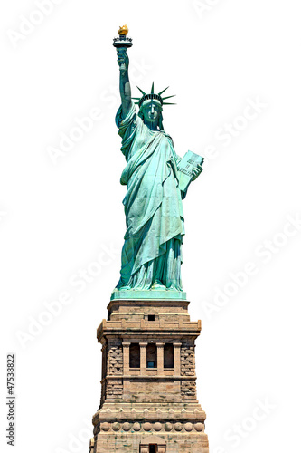 Fotografie, Obraz  Statue of Liberty - isolated on white