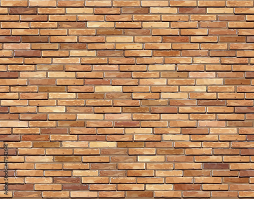 Brick wall seamless Vector illustration background - texture