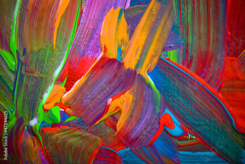 Foto op Aluminium Paradijsvogel bloem Abstract art backgrounds. Hand-painted background. SELF MADE.
