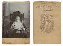 Vintage Photo Of A Child, Circa 1880.