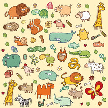 Cute Animals SET XL In Colors