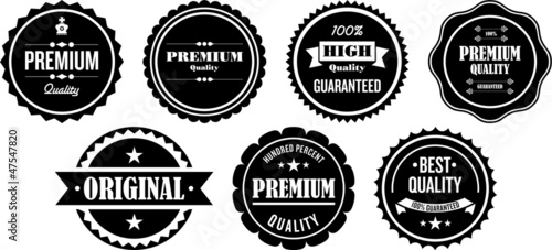 Obraz Vintage Premium Quality Labels and Stamps - fototapety do salonu
