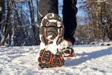 Winter Jogging Laufen Im Schne...