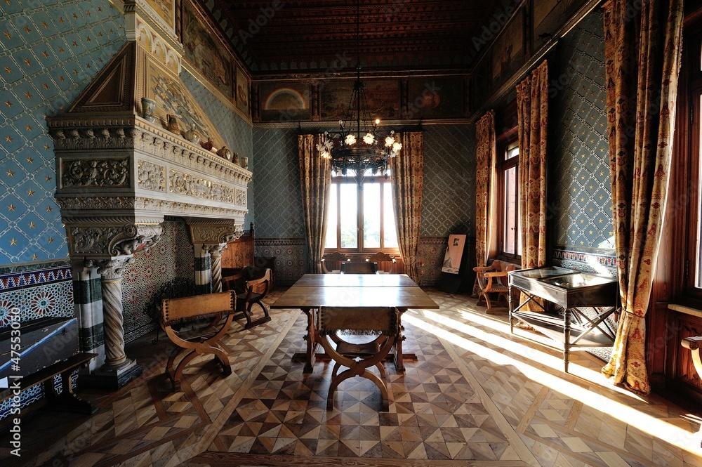 Fototapeta Sala interna al castello D'Albertis