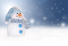Winter Background With A Snowm...