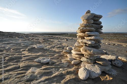 Photo sur Plexiglas Zen pierres a sable Tas de pierres