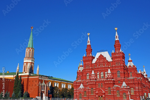 Poster Moscow Moscow Kremlin and Historical Museum on Red Square