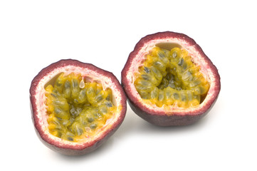 sliced passion fruit
