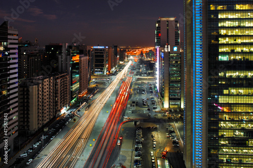 Poster Abou Dabi Abu Dhabi Rush Hour Traffic on Salam Street
