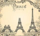 Fototapeta Fototapety z wieżą Eiffla - Construction de la tour Eiffel