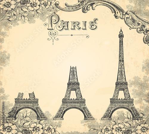 Fotografie, Obraz  Construction de la tour Eiffel