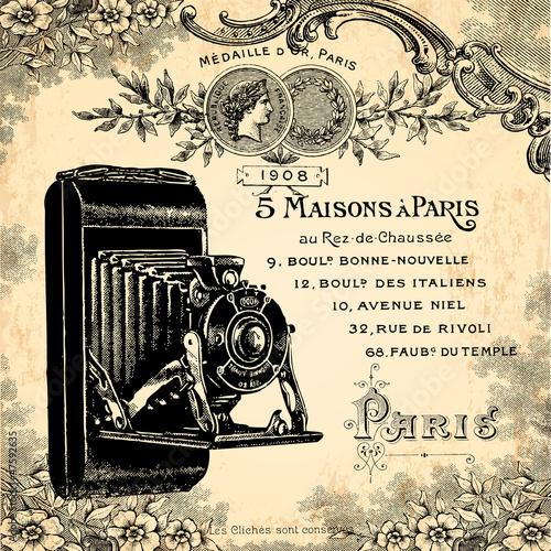 Papiers peints Affiche vintage Photographe 1900