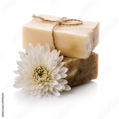 Fotografie, Obraz  Soap with flower