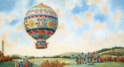 hot air balloon illustration - 47611060