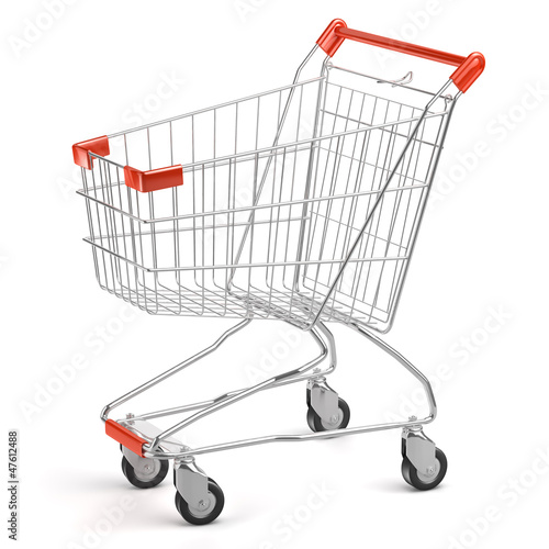 Fotografía  3d Shopping cart isolated