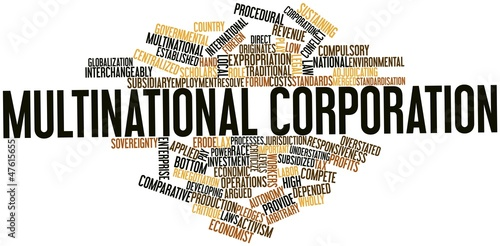Fényképezés  Word cloud for Multinational corporation