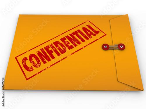 Fotografía  Confidential Classified Envelope Secret Information