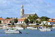 Port and church of Saint-Gilles-Croix-de-Vie de Vie in France