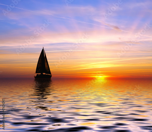 Foto-Kissen - Sailing to the sunset