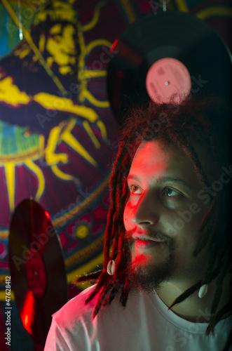 Fotografie, Obraz  Rastafarian figure