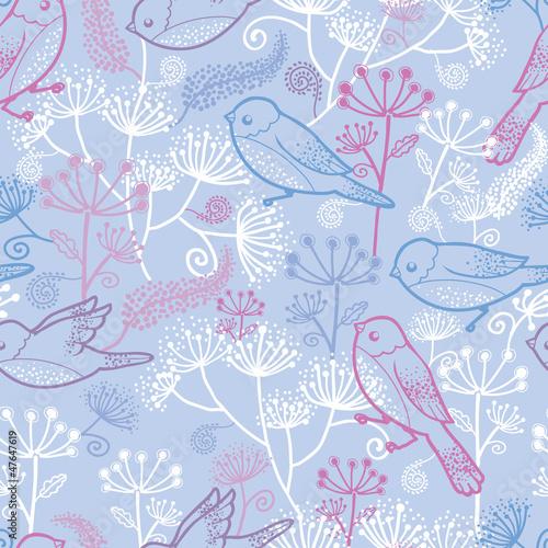 wektorowy-pastelowy-ptakow-i-kwiatow-bezszwowy-deseniowy-tlo-z