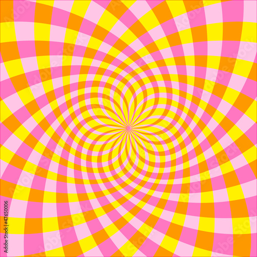 Spoed Foto op Canvas Psychedelic Vector Optical illusion Spin Cycle