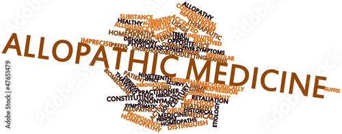 Word cloud for Allopathic medicine Wallpaper Mural