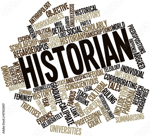 Fotografie, Obraz  Word cloud for Historian