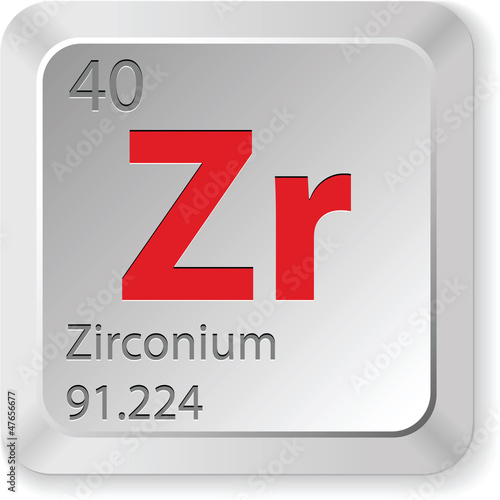 Fotografia, Obraz  zirconium element
