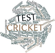 Word Cloud For Test Cricket