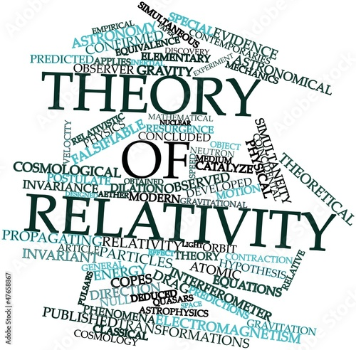 Fotografie, Tablou  Word cloud for Theory of relativity