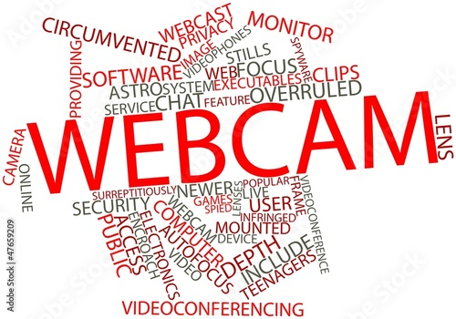 Photo  Word cloud for Webcam