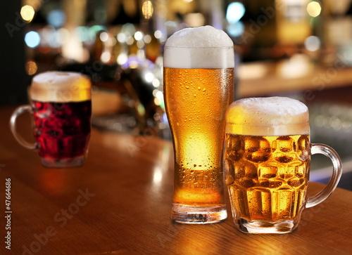 Biere, Cidre Glass of light beer.