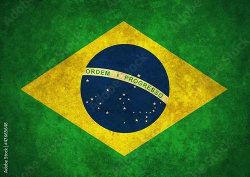 Fotografia  Grunge Brazil flag