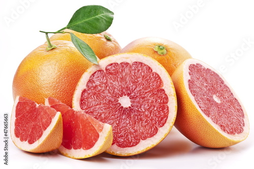 Stampa su Tela Grapefruit with slices.