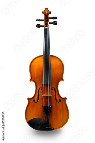 Stampa su Tela Violin isolated on white