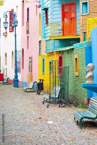 Foto op Aluminium Buenos Aires Colorful La Boca, Buenos Aires