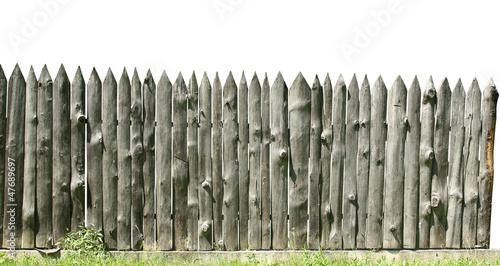 Fotografie, Obraz Old wooden fence