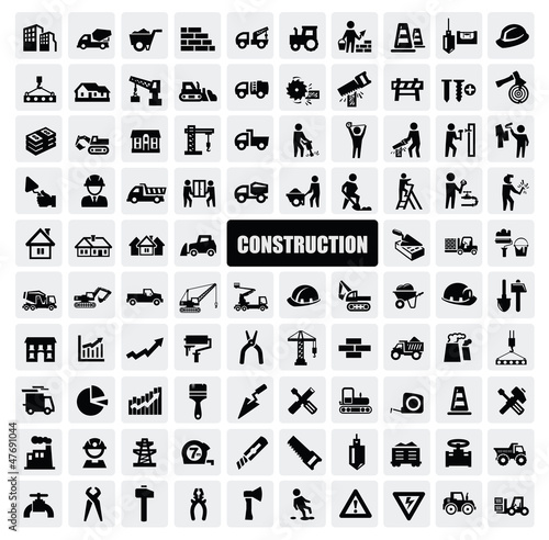 Fotomural construction icon