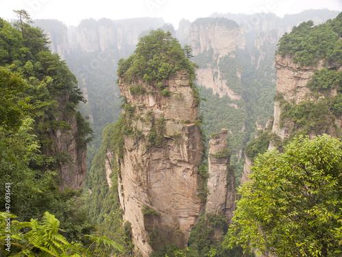 Rock mountain in Zhangjiajie. Poster
