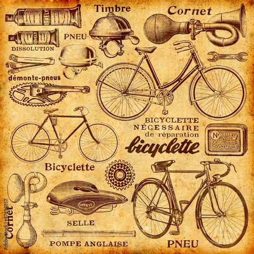 Deurstickers Kranten Réparation de vélo