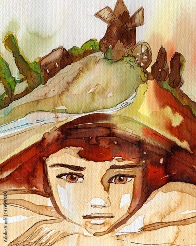 Poster Inspiration painterly a boy