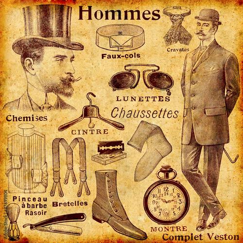 Obrazy na płótnie Canvas Accessoires pour hommes