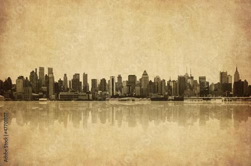 Foto op Aluminium New York grunge image of new york skyline