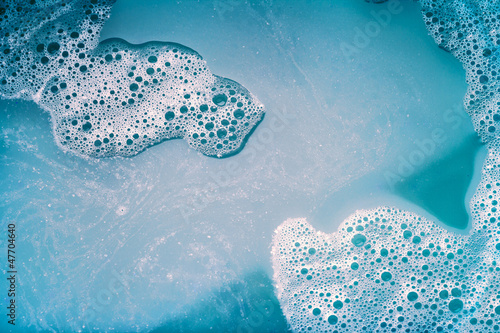 Valokuva  foam background blue