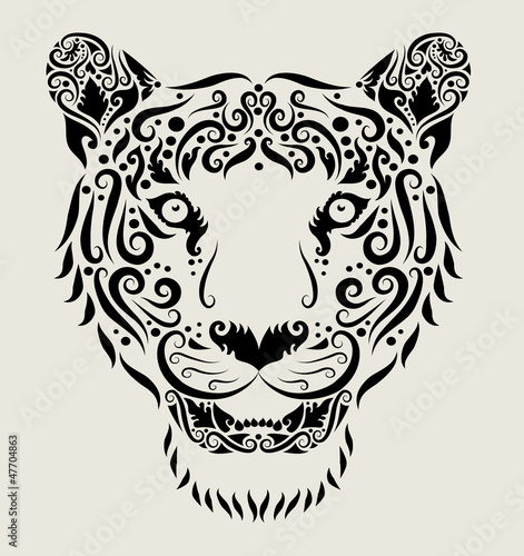 Tiger head ornament