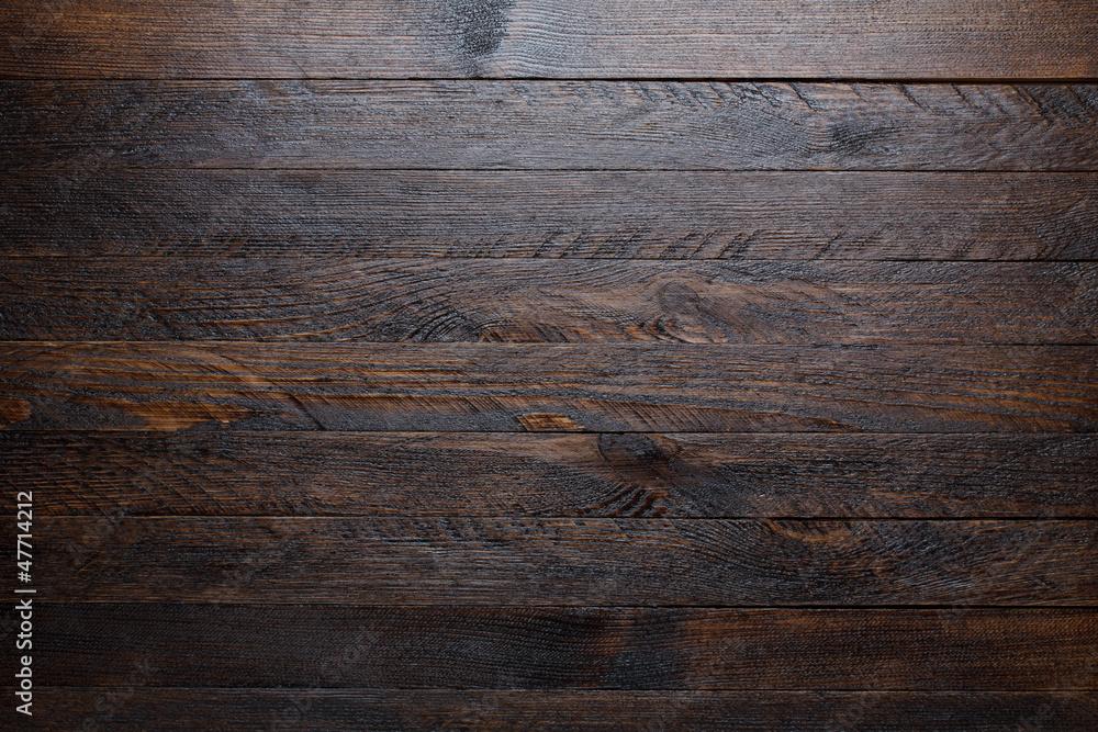 Fototapeta Rustic wooden table background top view - obraz na płótnie