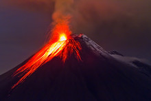 Eruption Of The Volcano With M...