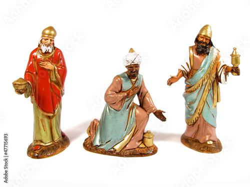 Photo Three Wise Men following a star to Bethlehem