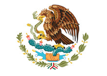 Coat Of Arms Of Mexico Vector Illustration